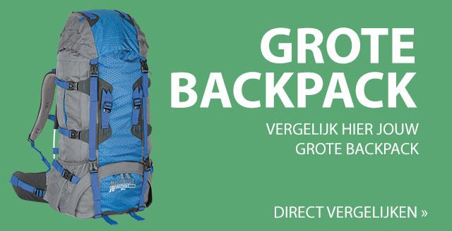 Grote backpack vergelijken